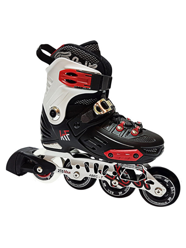 KRF FREESKATE First Black-Red INLINE  SKATE - nastavitelné in-line brusle