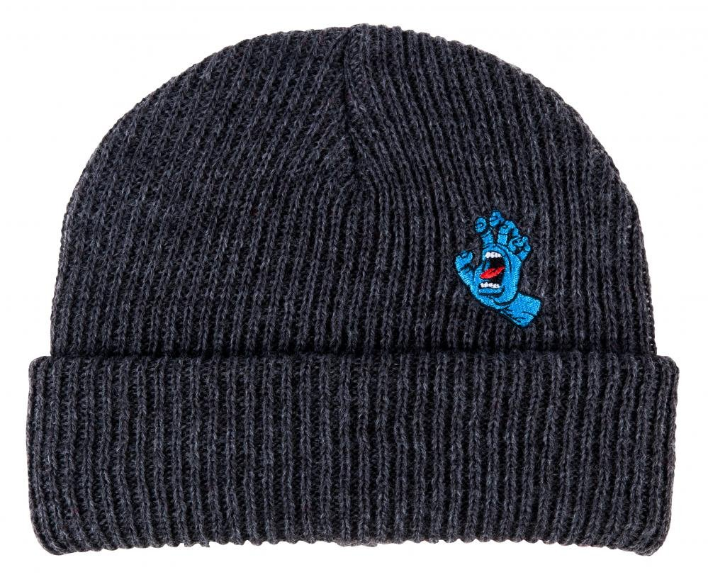 Santa Cruz - Beanie Screaming Mini Hand - Dark Heather - Pánský kulich