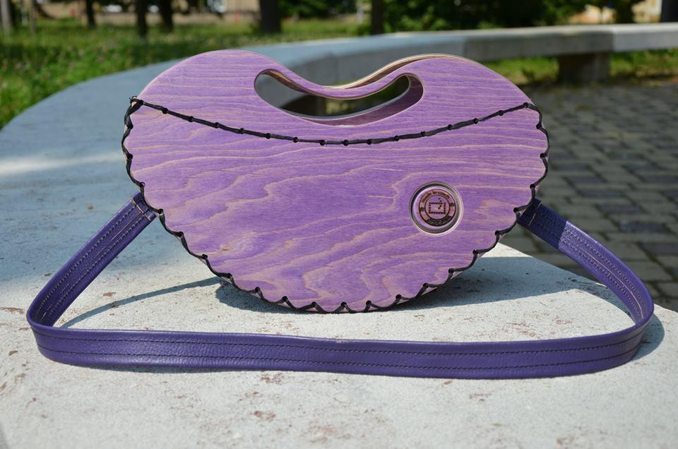 Rest art wear - Purple heart - kabelka