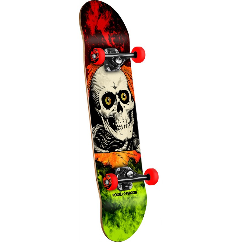 Powell Peralta Ripper Storm Red/Lime - 8- skateboard