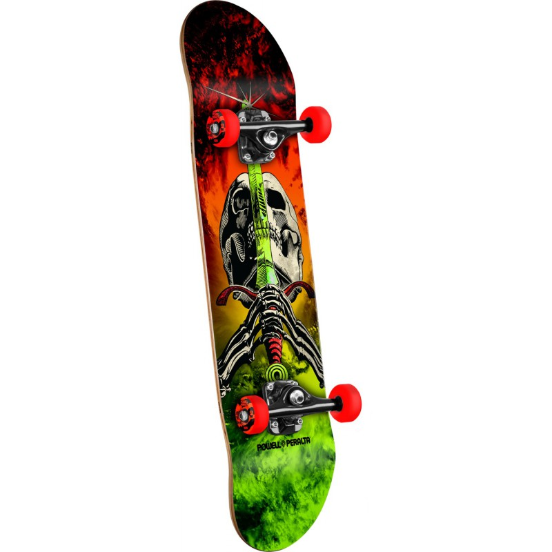 Powell Peralta Skull and Sword Storm Red/Lime - - skateboard