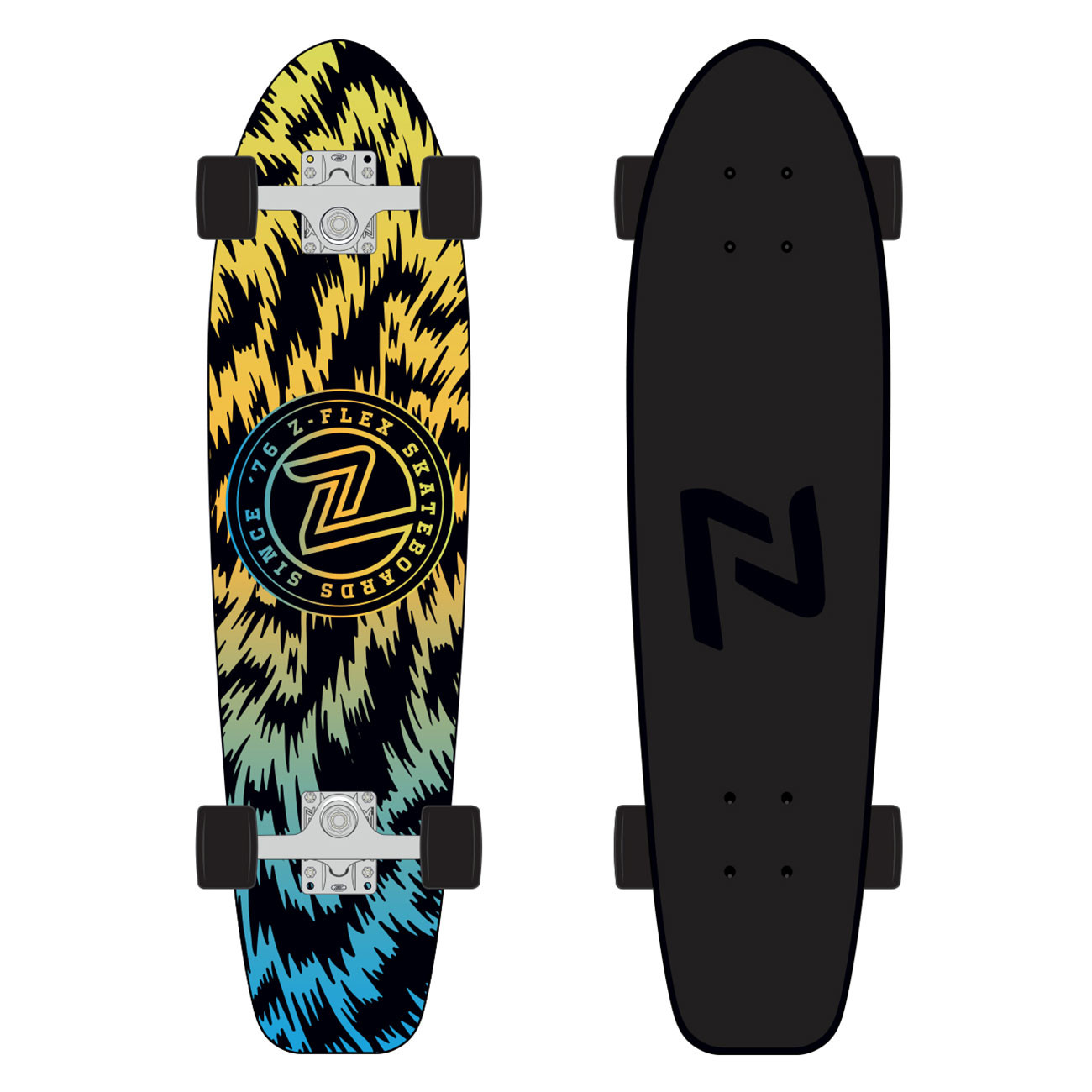 "Longboard Z-Flex Cruiser 29"" jungle acid"