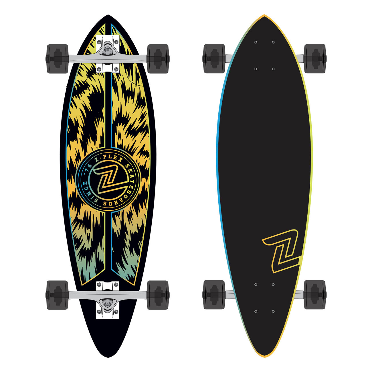 "Longboard Z-Flex Mini-Pintail 32"" jungle acid"