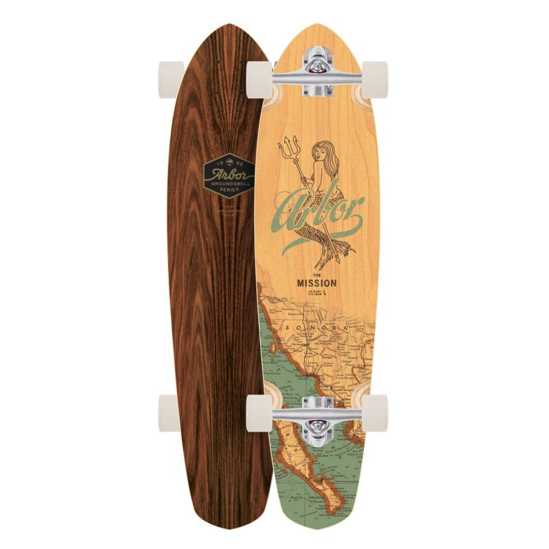 Arbor Mission Groundswell Series 'Mermaid' 35- longboard