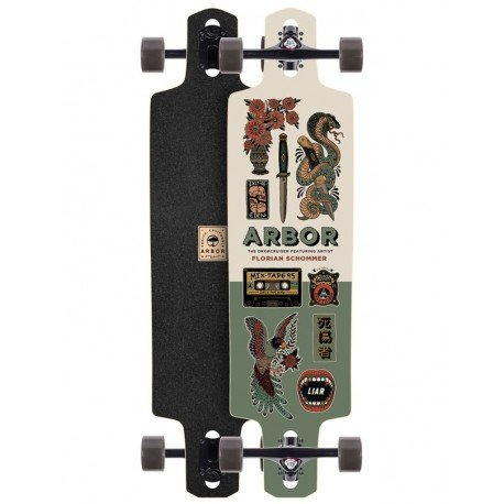 Arbor Dropcruiser Artist Collection 'Florian Schommer' 38 - longboard