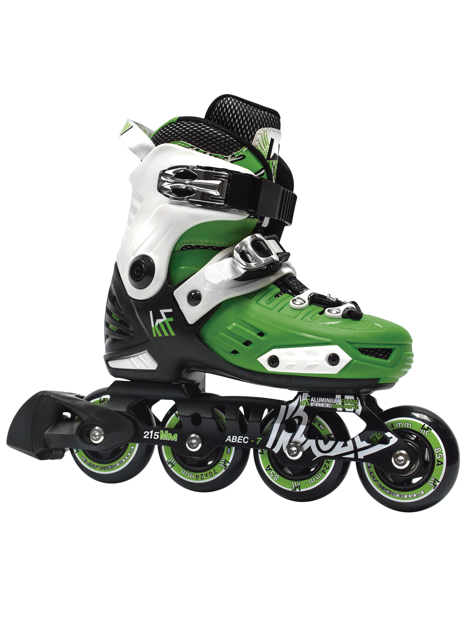 KRF FREESKATE First Green INLINE  SKATE - nastavitelné in-line brusle