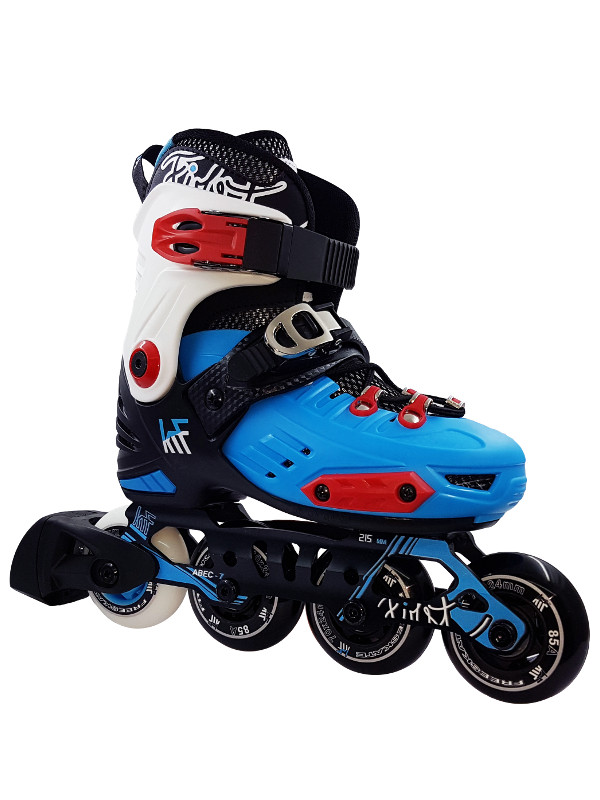 KRF FREESKATE New First Blue INLINE  SKATE - nastavitelné in-line brusle