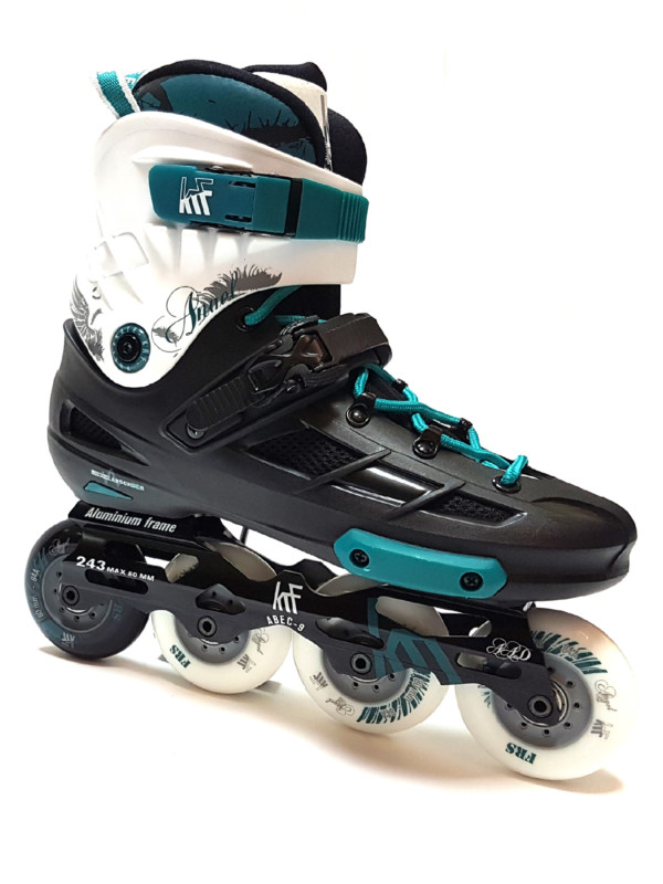 KRF FREESKATE Angel Black Green Inline Skate