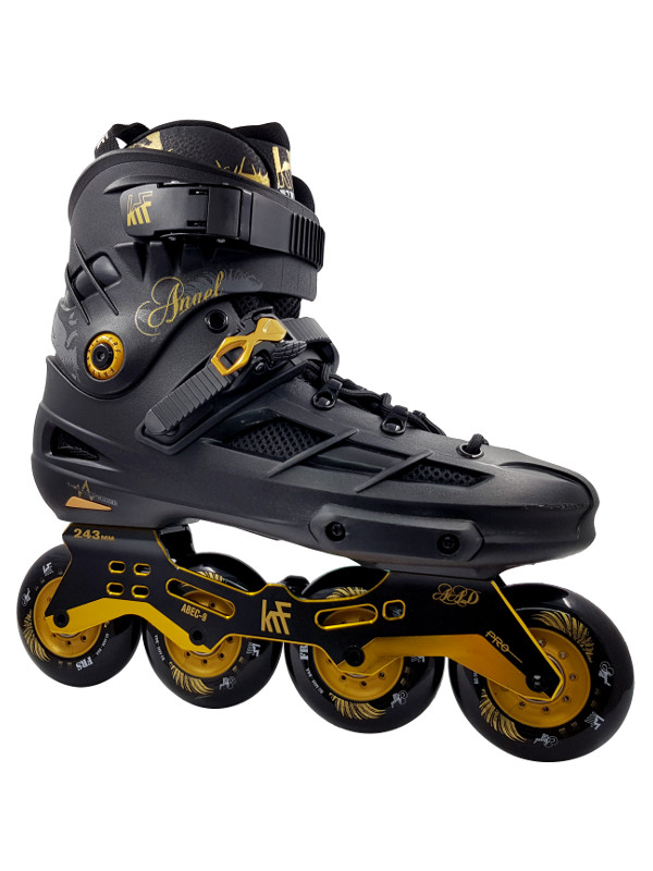 KRF FREESKATE Angel Black Gold Inline Skate