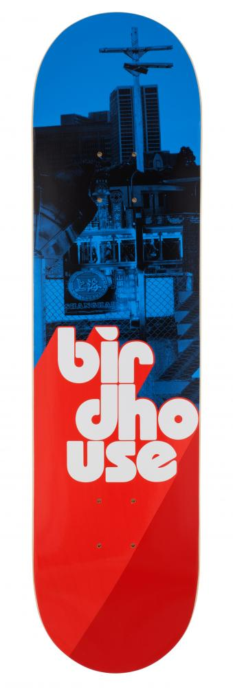 Birdhouse Logo Deck Stacked - Stacked Blue/Red - skate deska