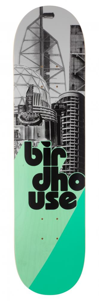 Birdhouse Logo Deck Stacked  - Stacked Grey/Mint - skate deska