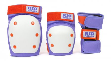 Rio Roller - Dámská Sada chráničů - Triple Pad Set Purple/Orange