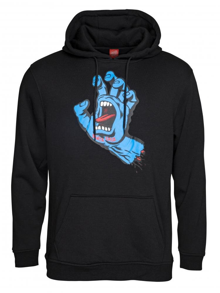 Santa Cruz - Hoody Screaming Hand Black - Pánská mikina