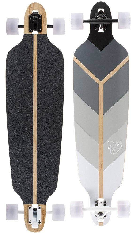 "Voltage - Directional DT V2 40"" Grey longboard"