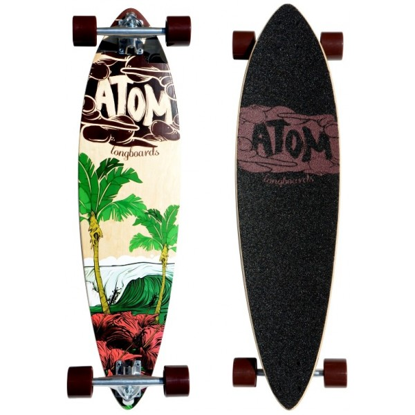 "Atom 35"" Pin-Tail Longboard - Surf"