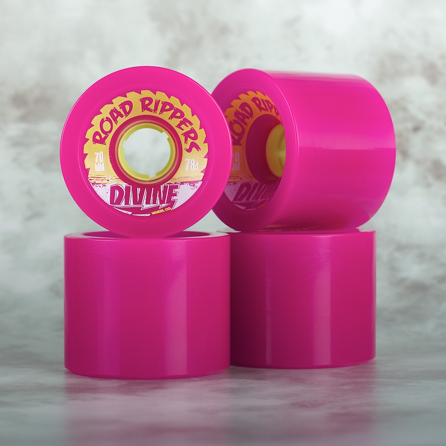 Divine City  70mm Road Rippers 78a purple - skate kolečka
