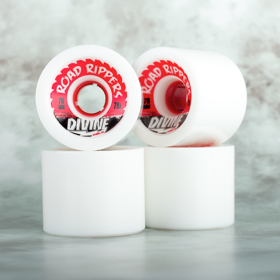 Divine City  70mm Road Rippers 78a white - skate kolečka
