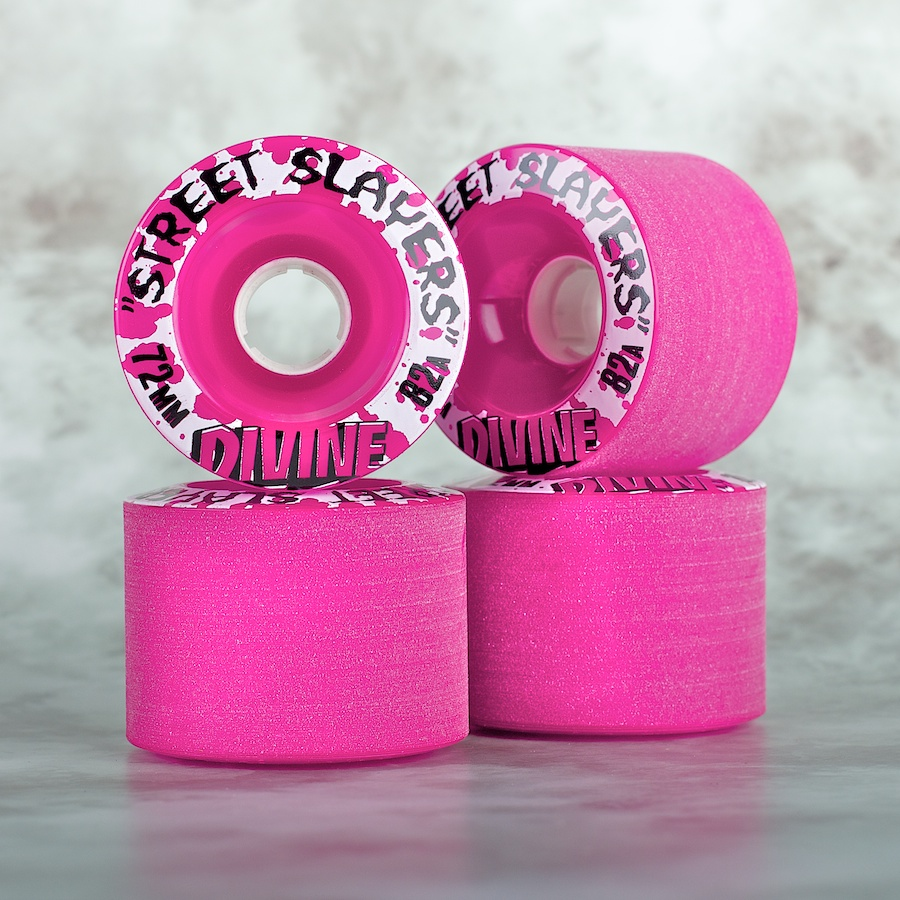 "Divine ""Street Slayers"" 72mm/82a purple  - skate kolečka"