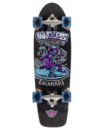 Mindless Calamari V2 - cruiser mini  longboard - black