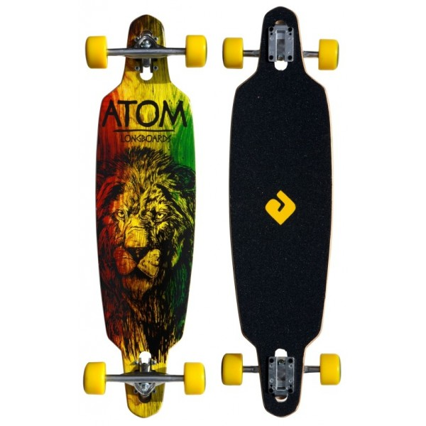 "Atom 36"" Drop-Through Longboard - Rasta"