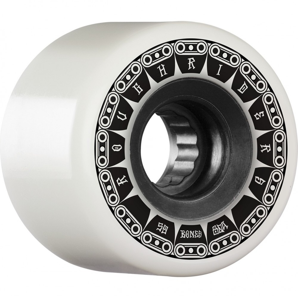 BONES WHEELS Rough Riders Tank White 59mm ATF 4pk